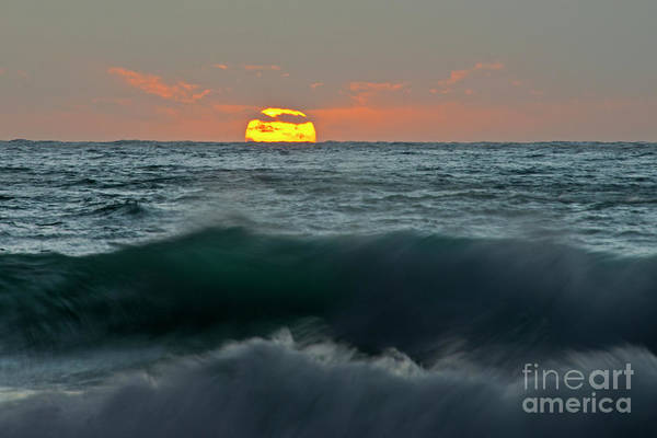Sea Art Print featuring the photograph Sunset by Fabiano Caddeo