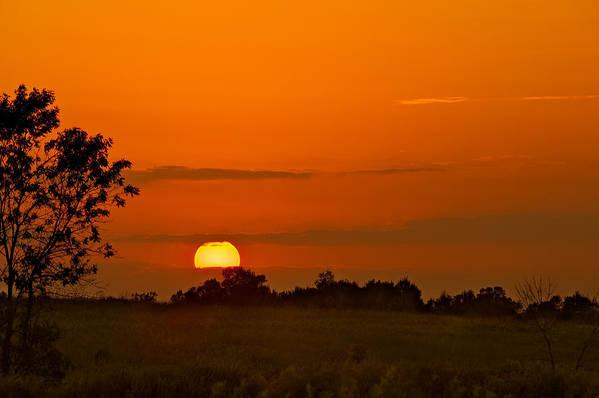 Cloud Art Print featuring the photograph Sunset Over Horicon Marsh by Steve Gadomski