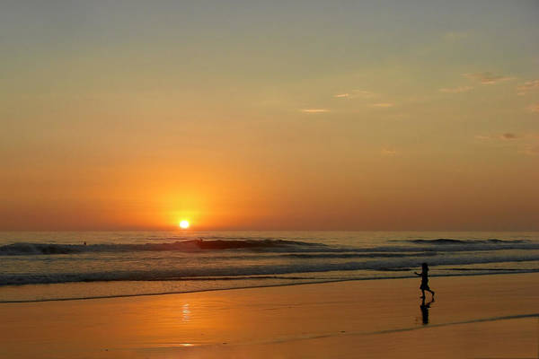 Pacific Art Print featuring the photograph Sunset Over La Jolla Shores by Christine Till