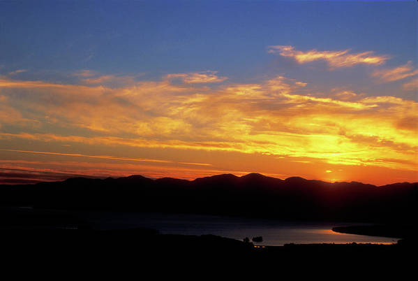 Lake Champlain Art Print featuring the photograph Sunset Over Lake Champlain From Mount Philo by John Burk