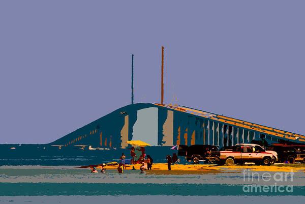 Sunshine Skyway Bridge Art Print featuring the photograph Sunshine Skyway by David Lee Thompson