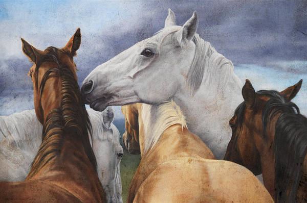 Michelle Grant Art Print featuring the painting Support Group by JQ Licensing