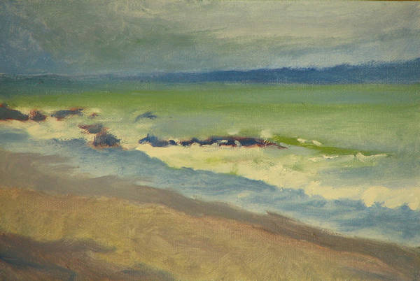 Ocean Art Print featuring the painting Surf by Robert Bissett