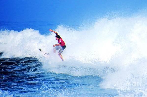 Professional-surfer-surfers Art Print featuring the photograph Surfer Alex Ribeiro - Nbr 3 by Scott Cameron