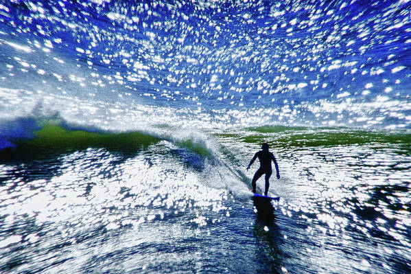 Surfer Art Print featuring the photograph Surfer by Linda Pulvermacher