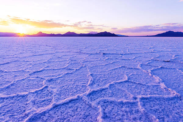 Salt Flats Art Print featuring the photograph Surreal Salt by Chad Dutson