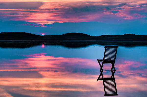 Background Art Print featuring the photograph Surreal Sunset by Gert Lavsen
