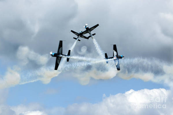 Airshow Print featuring the photograph Symetry Of Flight by Angel Tarantella