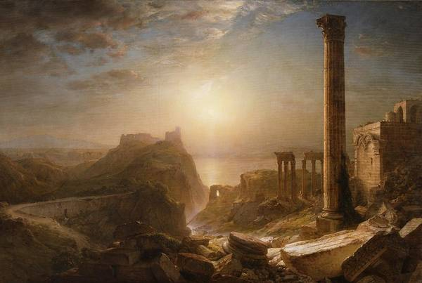 Syria Print featuring the painting Syria By The Sea by Frederic Edwin Church