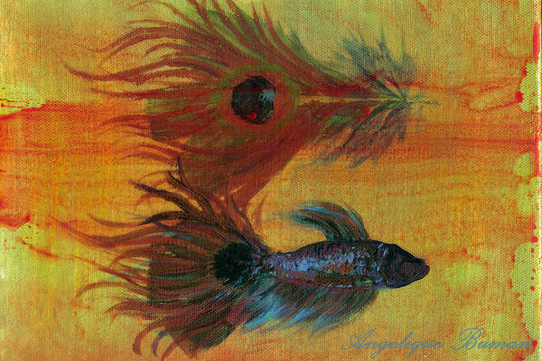 Fish Art Print featuring the painting Tail Study by Angelique Bowman