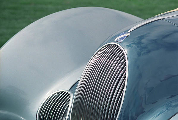 1938 Talbot-lago T150c-ss Teardrop Coupe Art Print featuring the photograph Talbot Lago Lines by Alan Olmstead