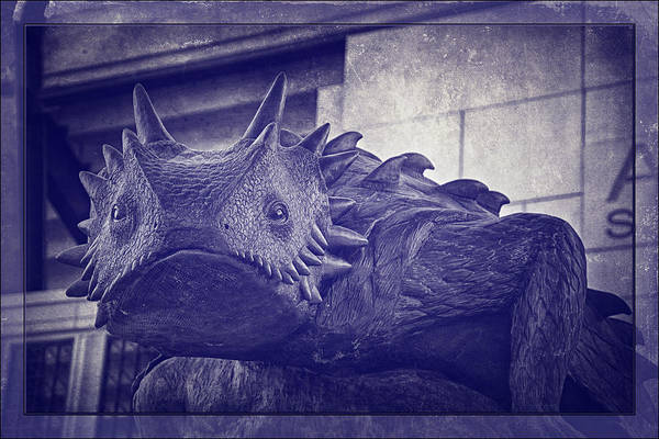 Joan Carroll Art Print featuring the photograph Tcu Horned Frog Purple by Joan Carroll