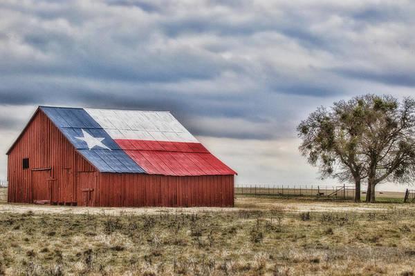 Flag Art Print featuring the photograph Texas Flag Barn #2 by Ronnie Prcin