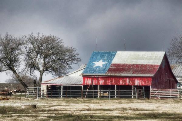 Landscape Art Print featuring the photograph Texas Flag Barn #4 by Ronnie Prcin