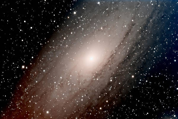 Star Art Print featuring the photograph The Andromeda Galaxy Close Up by Jim DeLillo