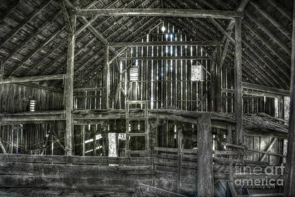Wooden Art Print featuring the digital art The Barn by Dan Stone