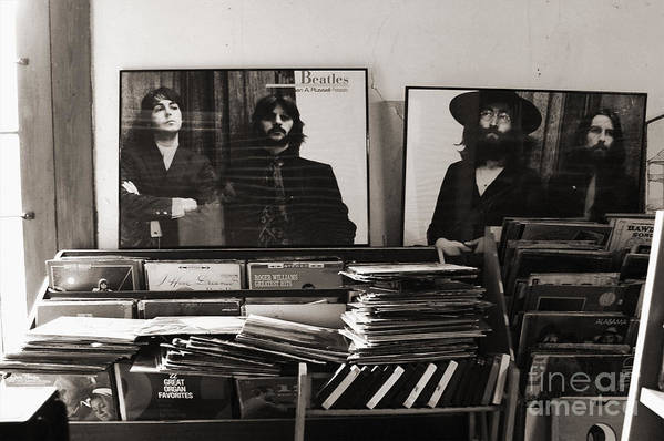 The Beatles Art Print featuring the photograph The Beatles Yesterday by Anna Payne