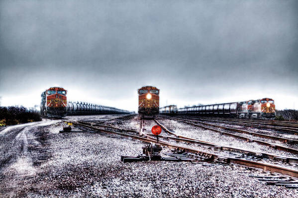 Train Art Print featuring the photograph The Big 3 by Doc Hafferty