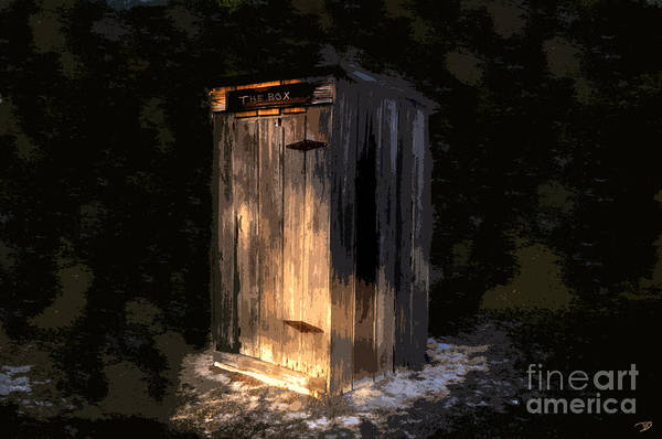 Outhouse Art Print featuring the painting The Box by David Lee Thompson