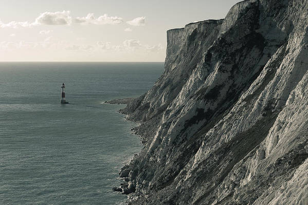 Landscapes Art Print featuring the photograph The Cliffs Of Beachy Head And The Lighthouse by Luka Matijevec