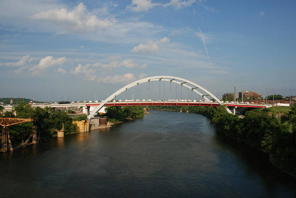 Nashville Photos Print featuring the photograph The Cumberland River In Nashville by Susanne Van Hulst