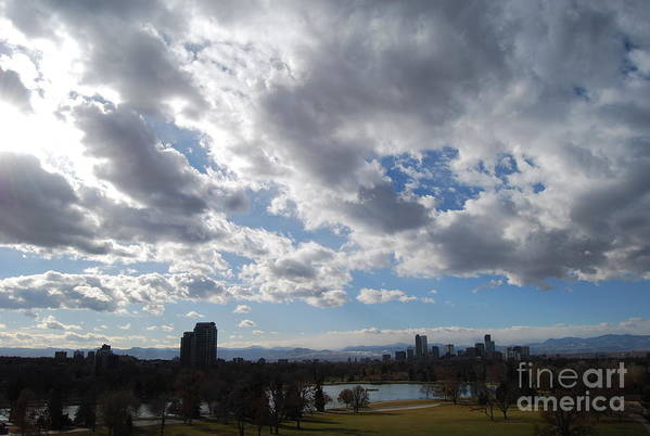 Denver Art Print featuring the photograph The Denver Sky by Sarah Tate