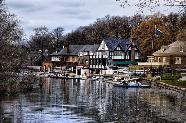 Docks Art Print featuring the photograph The Docks At Boathouse Row - Philadelphia by Bill Cannon