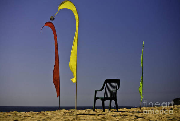 Beach Art Print featuring the photograph The Empty Chair by Avalon Fine Art Photography
