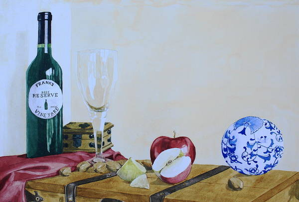 Still Life Art Print featuring the painting The Empty Glass by Frank Hamilton