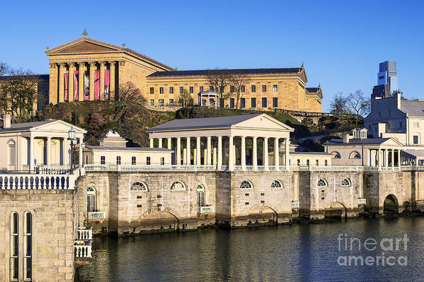 Art Museum Print featuring the photograph The Fairmount Water Works And Art Museum by John Greim