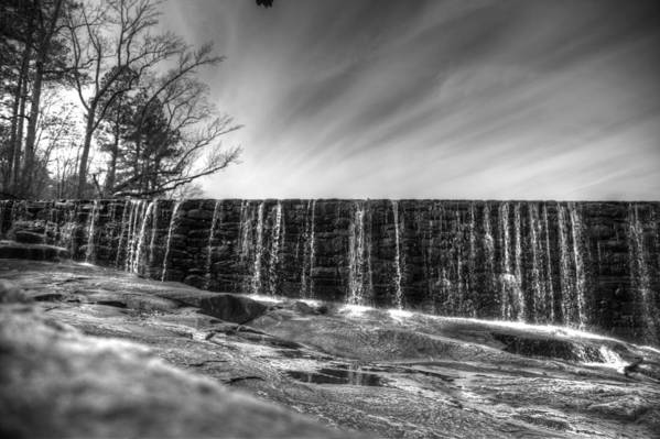 Landscapes Photographs Art Print featuring the photograph The Falls At Yates Mill II by Christopher McPhail