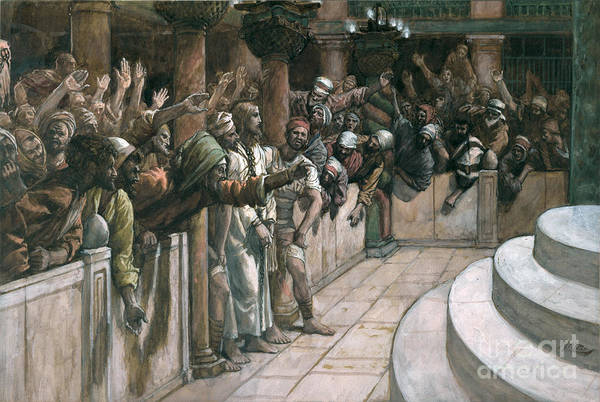 The Art Print featuring the painting The False Witness by Tissot