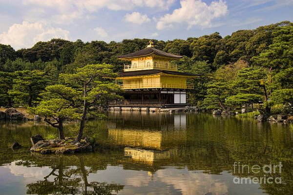 Colour Art Print featuring the photograph The Golden Pagoda In Kyoto Japan by David Smith