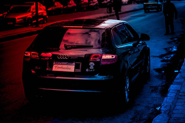 Audi Alexandria Egypt Car Road Landscape Colors Focused Idk Art Print featuring the photograph The Good And The Bad by Abdelrahman Tawheed