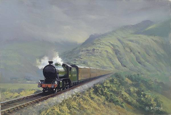 Steam Art Print featuring the painting the Great Marquess by Richard Picton
