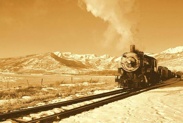 Train Art Print featuring the photograph The Heber Creeper by Caroline Clark