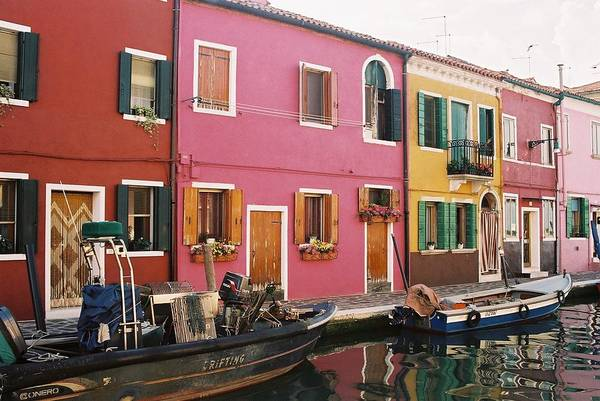 Burano Island Art Print featuring the photograph The Houses Of Burano Island-1 by Alex Kantor