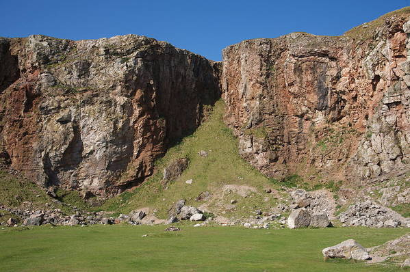 Cliffs Art Print featuring the photograph The Little Orme by Christopher Rowlands