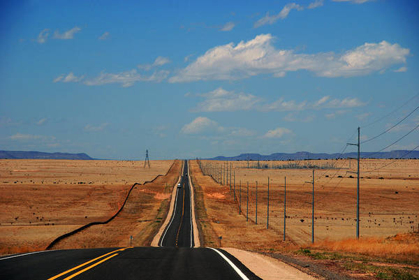 Long Road Art Print featuring the photograph The Long Road To Santa Fe by Susanne Van Hulst