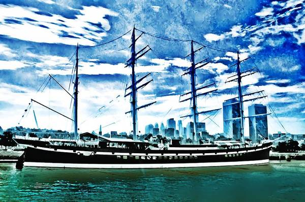 Moshulu Art Print featuring the photograph The Moshulu by Bill Cannon