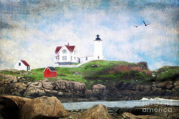 Architectural Art Print featuring the photograph The Nubble by Darren Fisher