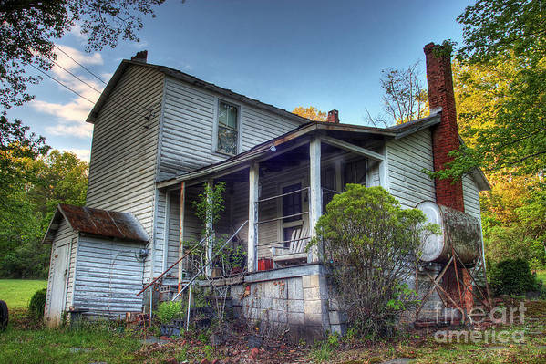 Landscape Art Print featuring the photograph The Old Home Place by Pete Hellmann