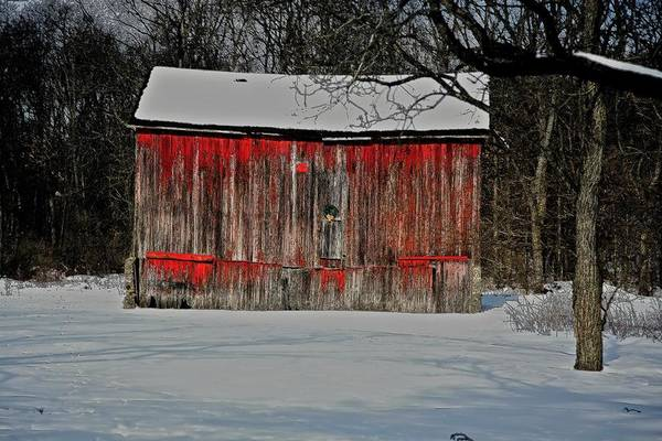 Old Art Print featuring the photograph The Old Weathered Barn by Robert Pearson
