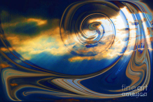 Sky Art Print featuring the photograph The Pending Storm by Donna Bentley