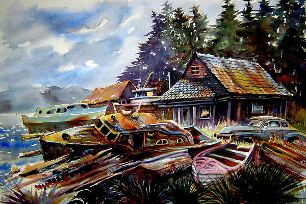 Boats Art Print featuring the painting The Preserve Of Captain Flood by Ron Morrison