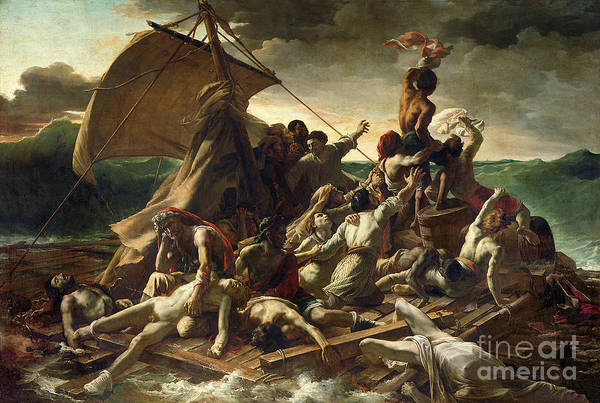The Raft Of The Medusa Print featuring the painting The Raft Of The Medusa by Theodore Gericault