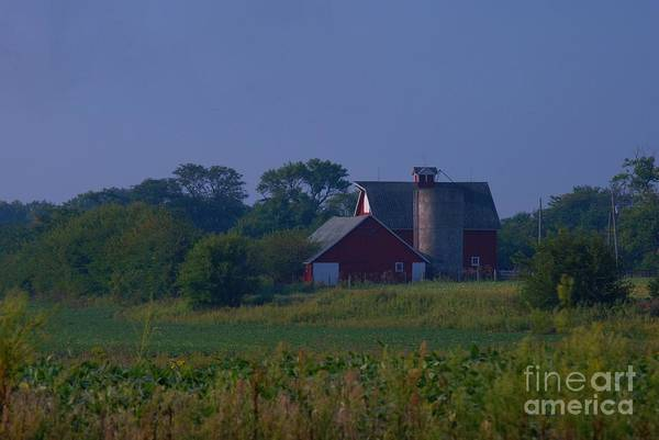 Art Print featuring the photograph The Red Barn by Michelle Hastings