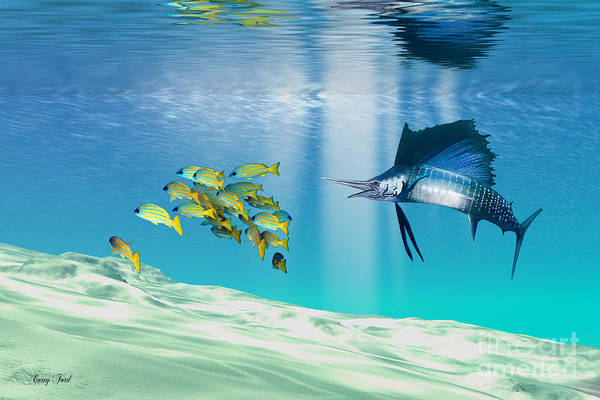 Sailfish Art Print featuring the painting The Reef by Corey Ford