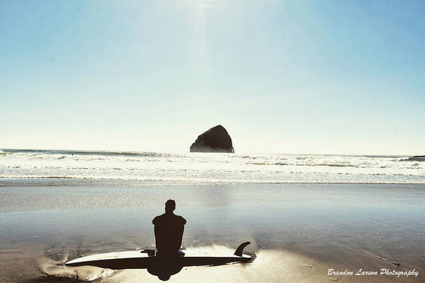 Art Print featuring the photograph The Resting Surfer by Brandon Larson