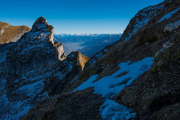 Mountains Art Print featuring the photograph The Ridge by Ingo Scholtes